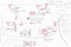 Ombu-Bühnenplan-Windrad-Schrottperformance